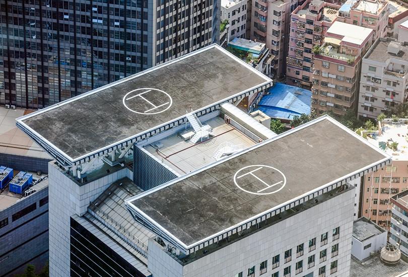 北京深房大厦屋顶停机坪