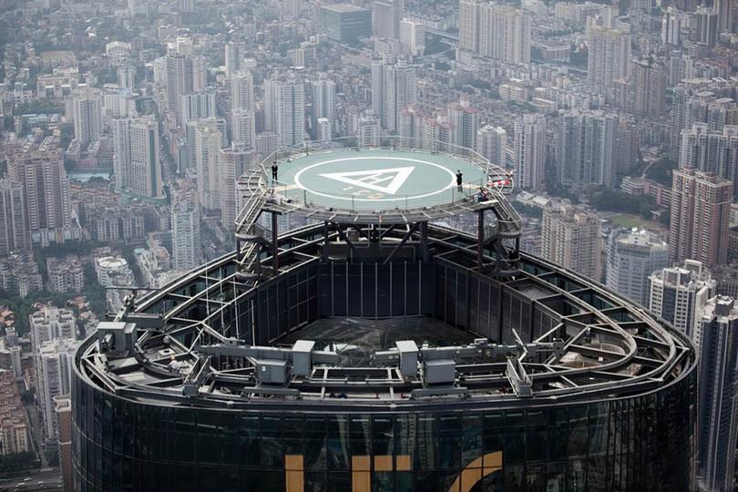 杭州圣奥中央商务大厦屋顶停机坪